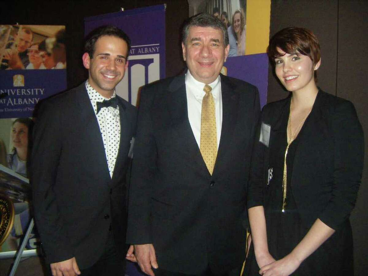 Were you Seen at the reception honoring UAlbany President George M. Philip at the Hearst Tower in New York City on Thursday, March 1, 2012?