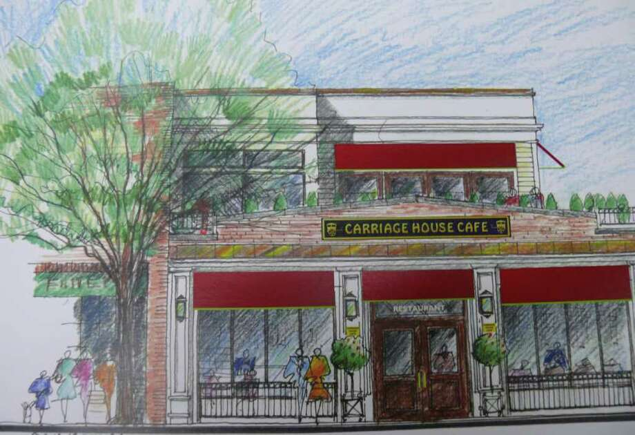 An architect's drawing shows renovated building at corner of Post Road and Sanford Street, with the addition of a new second story, that won approval Thursday from the Zoning Board of Appeals. Photo: Contributed Photo / Fairfield Citizen contributed