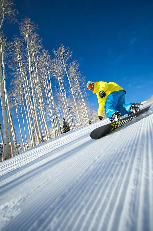 Snowboarding at Canyons Resort, Utah. Photo: Rob Bossi, Canyons Resort