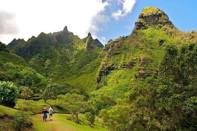 Limahuli National Tropical Botanical Garden on Kauai.... 2573117 ...