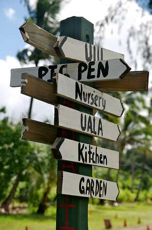 Signs at the Waipa Foundation property.  Photo by John Flinn / Special to The Chronicle Photo: John Flinn