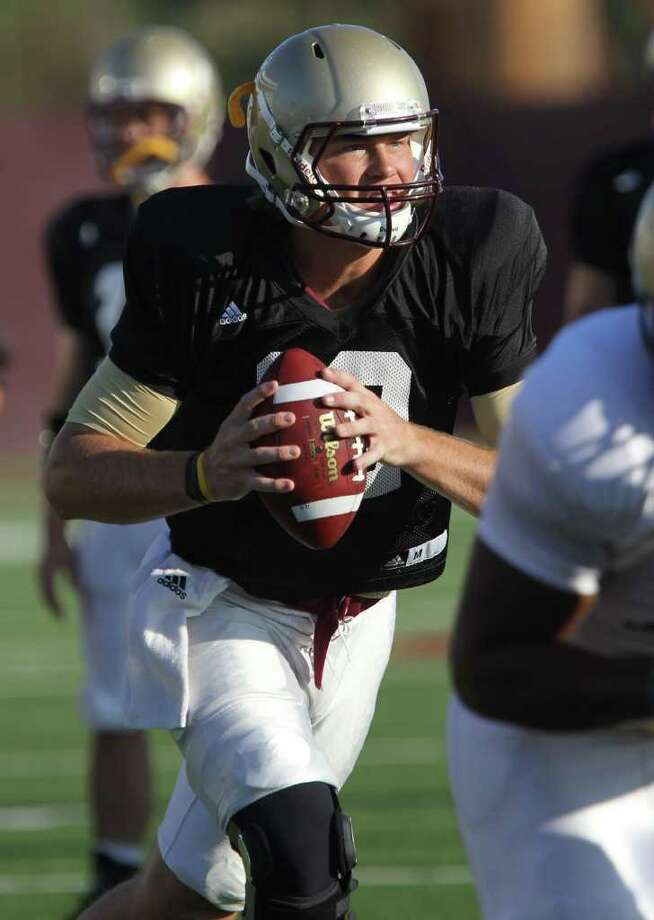 Texas State quarterback Tyler Arndt hopes to climb back atop the Bobcats' depth chart. Photo: SAN ANTONIO EXPRESS-NEWS