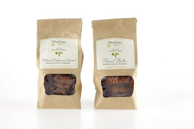 "4 FLAVORS of GLUTEN FREE COOKIES FROM WHOLE VINE ""Sonoma Style Cookies"" (2-Chocolate; Chocolate Chocolate Chip; Peanut Butter; Oatmeal California Currant)  as seen in San Francisco, California on Wednesday, February 1, 2012. Photo: Craig Lee, Special To The Chronicle"