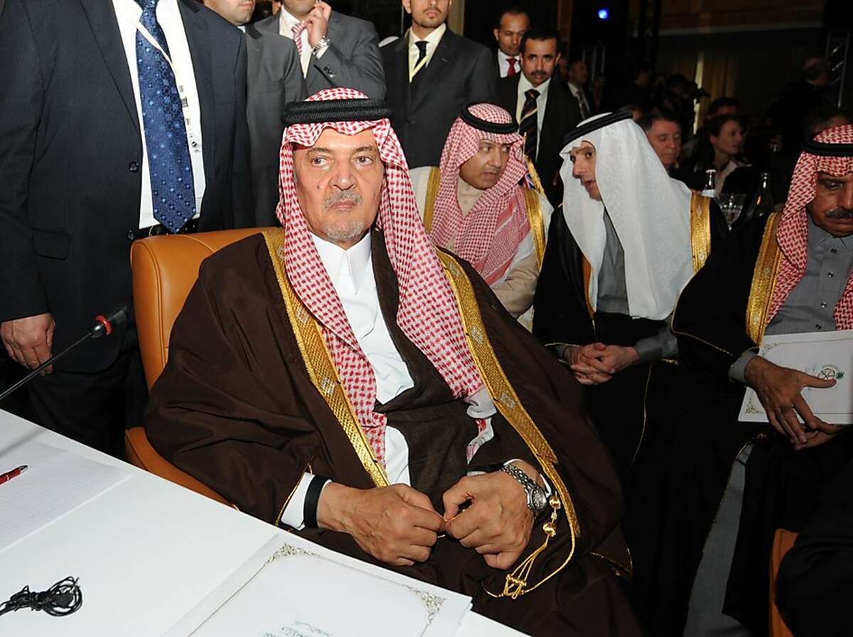 Saudi Arabia Foreign affairs Minister Prince Saud Al-Faisal Al-Saud attends the first