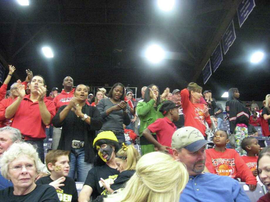 Kountze fans watch during the Lions' regional semifinal win Friday. David Henry/Enterprise.