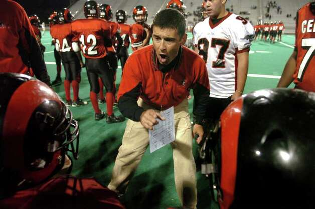 "Central head football coach Dave Cadelina is among the state's football coaches who have been called on the carpet by the CIAC for violating the state's 50-point rule. Cadelina was ""acquitted"" by the state's governing high school board. Photo: Christian Abraham/Staff Photographer"