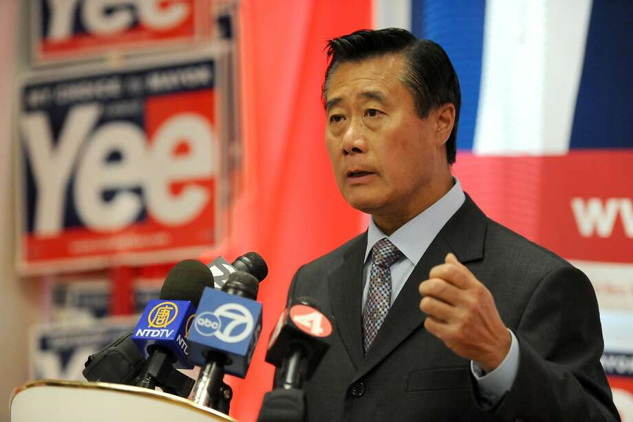 Senator Leland Yee speaks with the media in his office on Tuesday, October 25, 2011. He was announcing that a SF resident has been paid by Mayor Ed Lee's campaign or one of his independent expenditure committees. Photo: Susana Bates, Special To The Chronicle