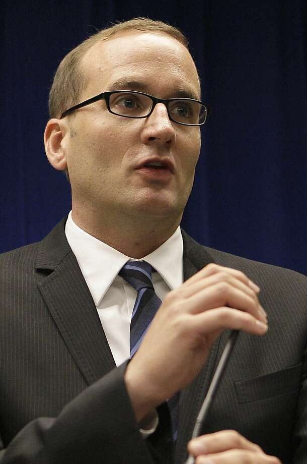 In this June 13, 2011 photo, Chad Griffin is shown at a news conference at the Phillip Burton Federal Building in San Francisco. Griffin, a political strategist from California who played a leading role in trying to overturn the state's same-sex marriage ban, was named Friday, March 2, 2012 as the new president of the Human Rights Campaign, the nation's largest gay rights lobbying and education group. Photo: Jeff Chiu, Associated Press