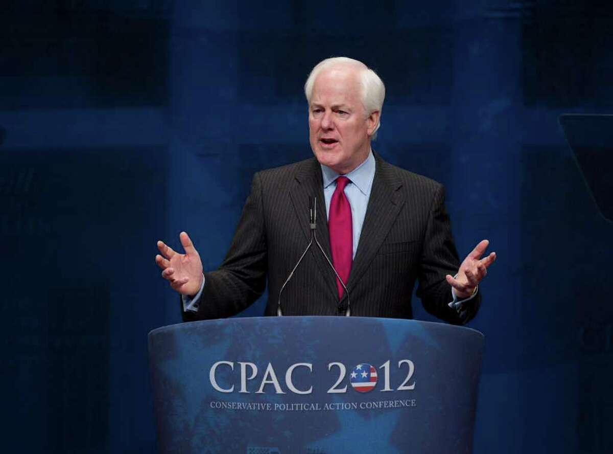 """Sen. John Cornyn, R-Texas, speaks last month. On Friday, he said policies from Washington are """"the biggest threat to our energy renaissance."""""""