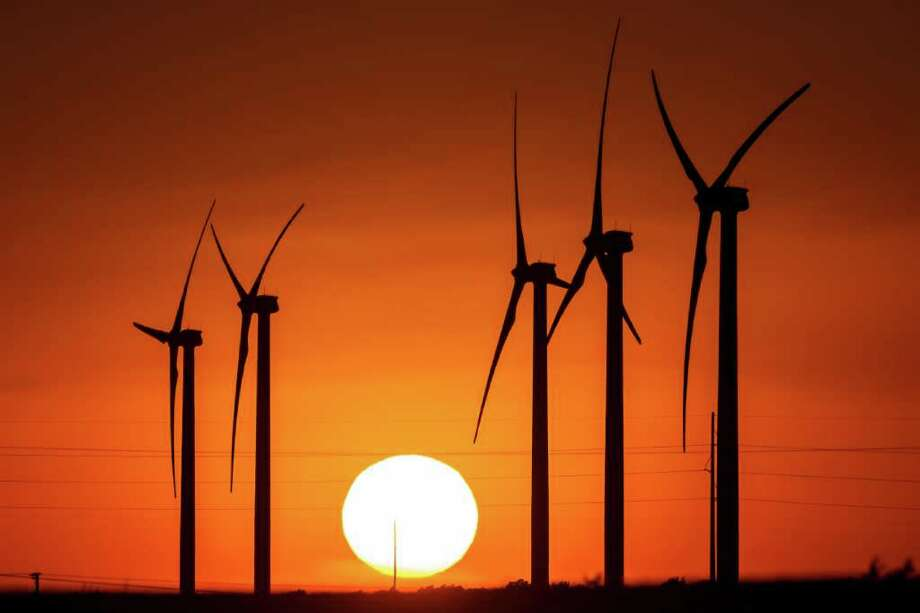 BP's latest wind farm, 30 miles east of Fort Stockton, has 60 turbines and is called Sherbino 2. West Texas is a leading area for green energy production. Photo: Michael Paulsen / © 2012 Houston Chronicle