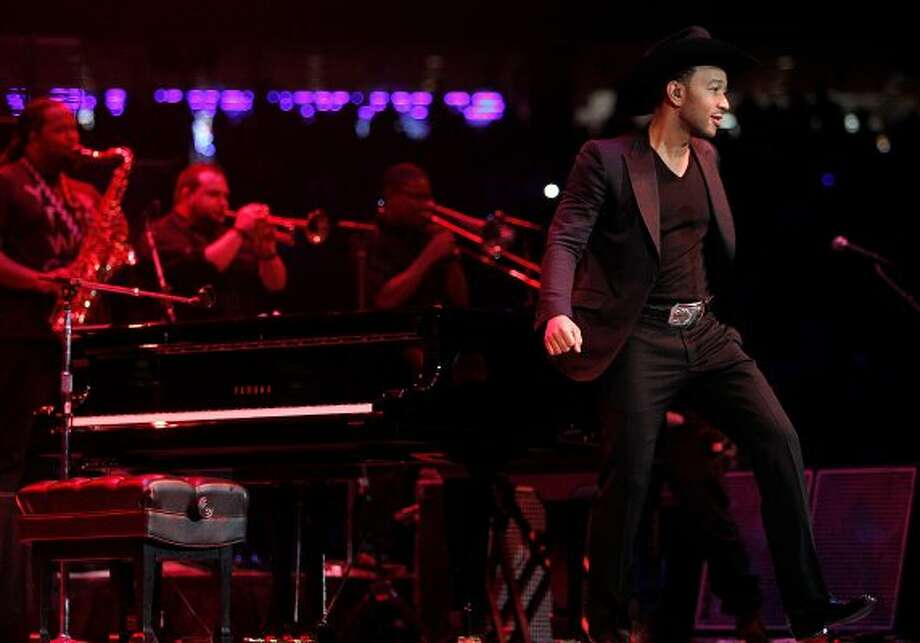 John Legend performs during the Houston Livestock Show and Rodeo at Reliant Stadium on Friday, March 2. (Mayra Beltran / Houston Chronicle)