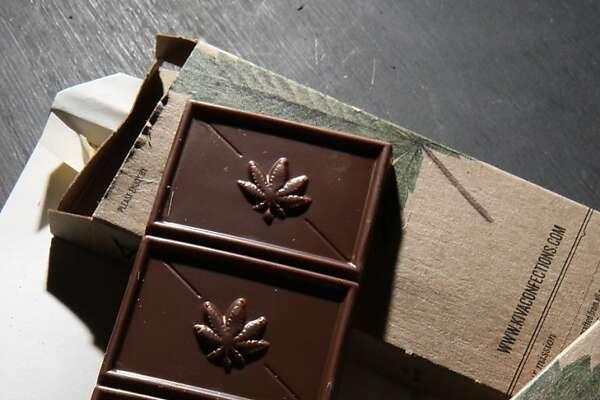 A marijuna infused chocolate bar which is sold at Shambhala Healing Center medical marijuana dispensary in San Francisco Calif.,  on Wednesday, February 29, 2012.