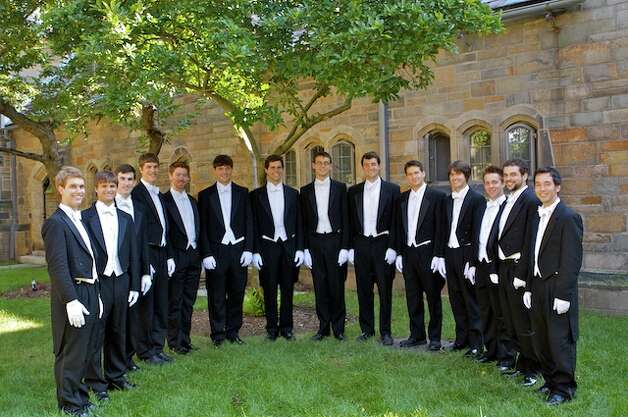 The Yale Whiffenpoofs, the university's a cappella ensemble, will perform at the Young People's Chorus of New York City's annual fundraising gala March 12 at Jazz at Lincoln Center in New York. Photo: ST / CMG