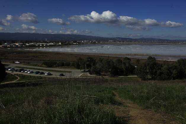 The salt ponds in Redwood City where Cargill is proposing a development project is seen on Monday, February 27, 2012 in Redwood City, Calif. Photo: Lea Suzuki, The Chronicle