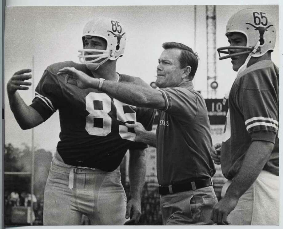 In 1966, Texas' Darrell Royal was well on his way to becoming a legend in the annals of college coaching. He won national titles in 1963, 1969 and 1970. Photo: Sam Pierson / Houston Chronicle