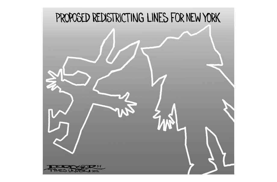 Proposed redistricting lines for New York Photo: John De Rosier