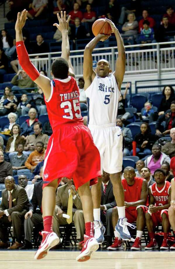 Rice fell short against the Cougars, losing in the first round of the C-USA conference tournament. Photo: Bob Levey, Houston Chronicle / ©2012 Bob Levey