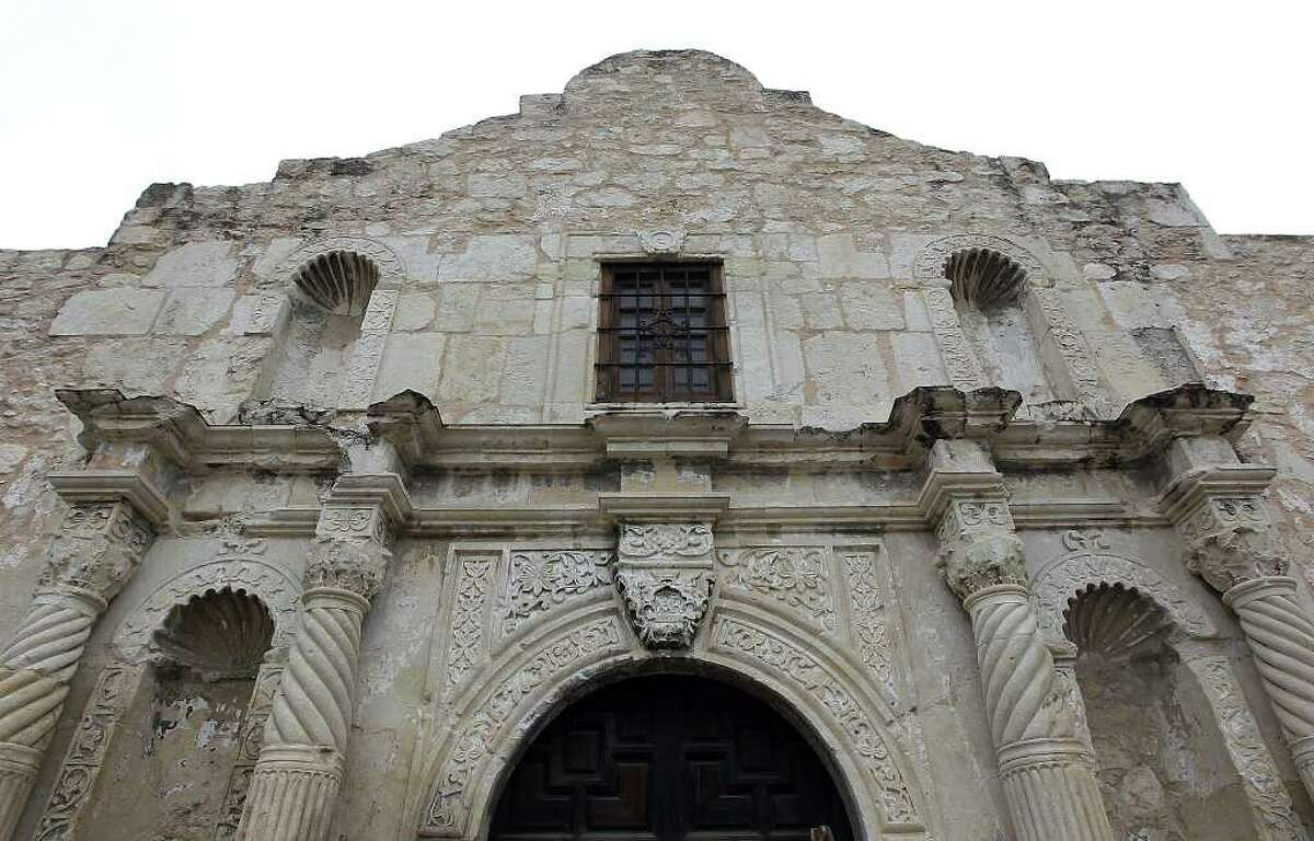 Images of the facade of the Alamo in its current state. Efforts are being made to preserve the shrine but funding is needed for continued assessments and further preservation projects. Kin Man Hui/San Antonio Express-News