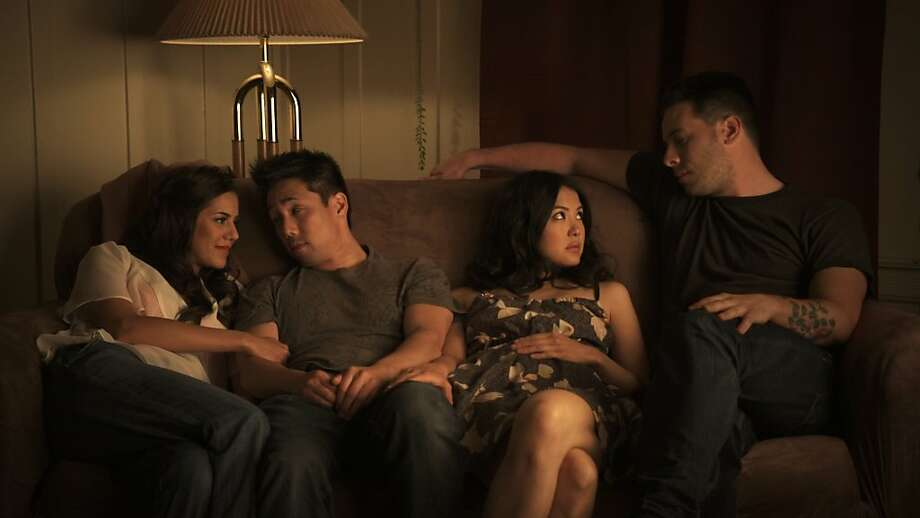 """Sheetal Sheth, Parry Shen, Lynn Chen and Kerry McCrohan in Richard Wong's """"Yes, We're Open,"""" showing in the 30th San Francisco International Asian American Film Festival, which runs March 8-18. Photo: Courtesy SFIAFF"""