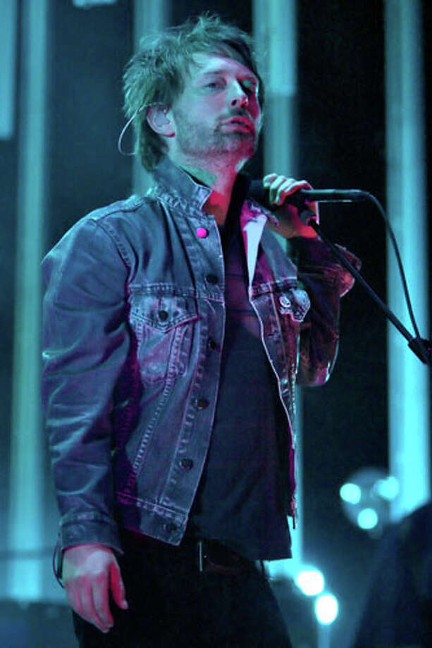 Radiohead's Thom Yorke at the Cynthia Woods Mitchell Pavilion in The Woodlands in 2008.  (Bill Olive / For the Chronicle) Photo: Hc
