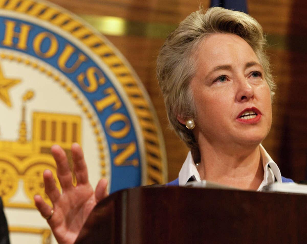 Houston Mayor Annise Parker in 2011. ( Nick de la Torre / Houston Chronicle )