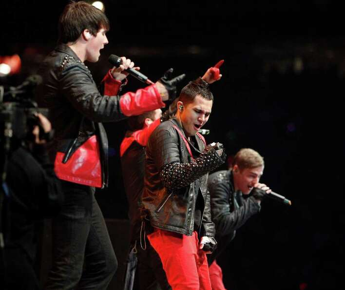 Big Time Rush performs in concert during the Houston Livestock Show and Rodeo Sunday, March 4, 2012,