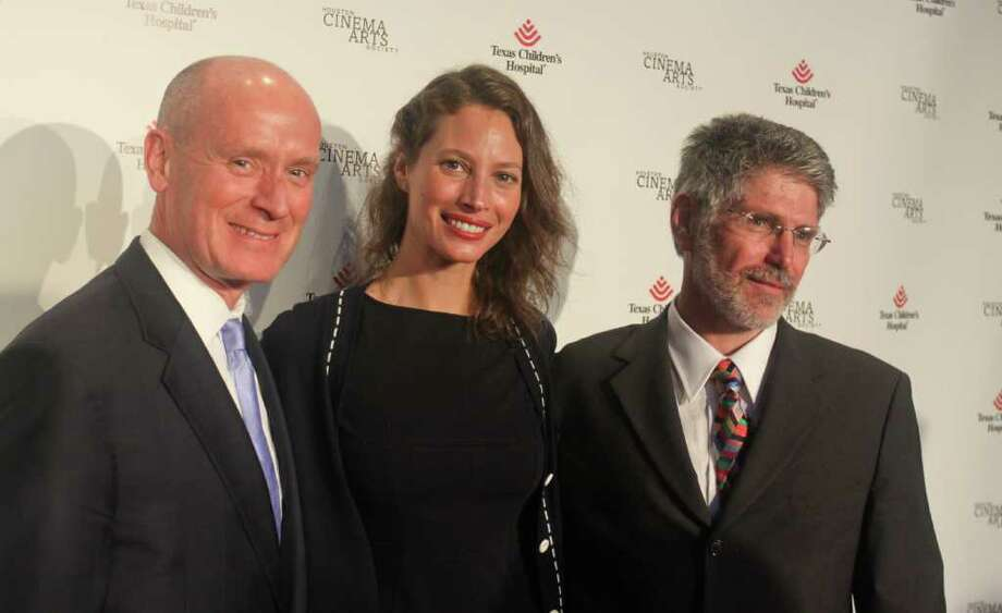 "Dr. Mark Kline, from left, Christy Turlington Burns and Dr. Michael Belfort at the ""No Woman No Cry"" screening at Sundance Cinemas Photo: Gary Fountain / Copyright 2012 Gary Fountain."