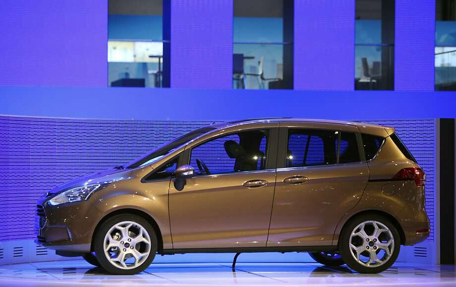 A Ford B-Max automobile is seen on the company's stand, ahead of the opening press day at the Geneva International Motor Show in Geneva, Switzerland, on Monday, March 5, 2012. The 82nd Geneva International Motor Show will showcase the latest models from the auto industry's leading manufacturers at the Palexpo exhibition centre this week. Photographer: Chris Ratcliffe/Bloomberg Photo: Chris Ratcliffe, Bloomberg