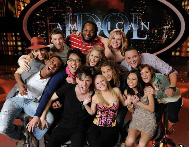 AMERICAN IDOL: The Final 13: Clockwise from Top Center; Jermaine Jones, Erika Van Pelt, Jeremy Rosado, Skylar Laine, Jessica Sanchez, DeAndre Brackensick, Hollie Cavanagh, Shannon Magrane, Colton Dixon. Heejun Han, Joshua Ledet, Elise Testone and Phillip Phillips Photo: Michael Becker