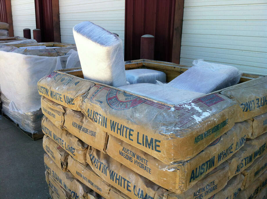 Border Patrol agents say they found marijuana hidden in what appeared to be pallets of industrial lime sacks. Photo: U.S. Customs And Border Protection
