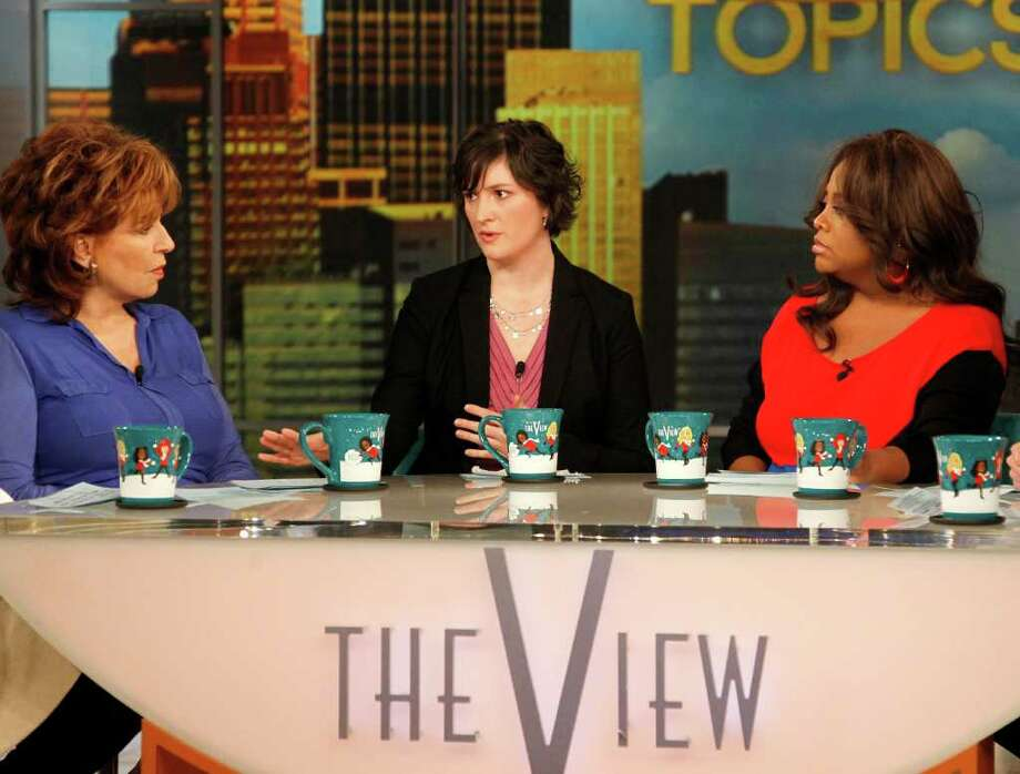 "Georgetown University law student and activist Sandra Fluke, center, speaks as co-hosts Joy Behar, left, and Sherri Shepherd listen during an appearance on the daytime talk show, ""The View,"" Monday, March 5, 2012 in New York. Fluke talked about conservative radio host Rush Limbaugh and the comments he made on his program after she testified to Democratic members of Congress in support of a requirement that health care companies provide coverage for contraception. Fluke told ABC's ""The View"" on Monday that she hasn't heard from Limbaugh since he issued a written apology late Saturday. (AP Photo/ABC, Lou Rocco) Photo: Lou Rocco"