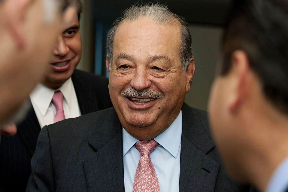 Mexican billionaire Carlos Slim may have to break up America Movil SAB. Photo: Susana Gonzalez, Bloomberg