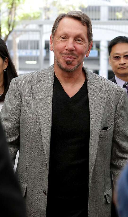 Larry Ellison, chief executive officer of Oracle Corp., arrives at court in San Jose, California, U.S., on Monday, Sept. 19, 2011. Google Inc. and Oracle Corp. chief executive officers will square off in court today to resolve a dispute that may pose the biggest threat to Google's Android mobile software, now running on more than 150 million devices. Photographer: Ryan Anson/Bloomberg *** Local Caption *** Larry Ellison Photo: Ryan Anson, Bloomberg
