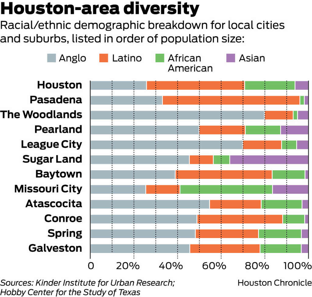 Houston region is now the most diverse in the US  Houston Chronicle