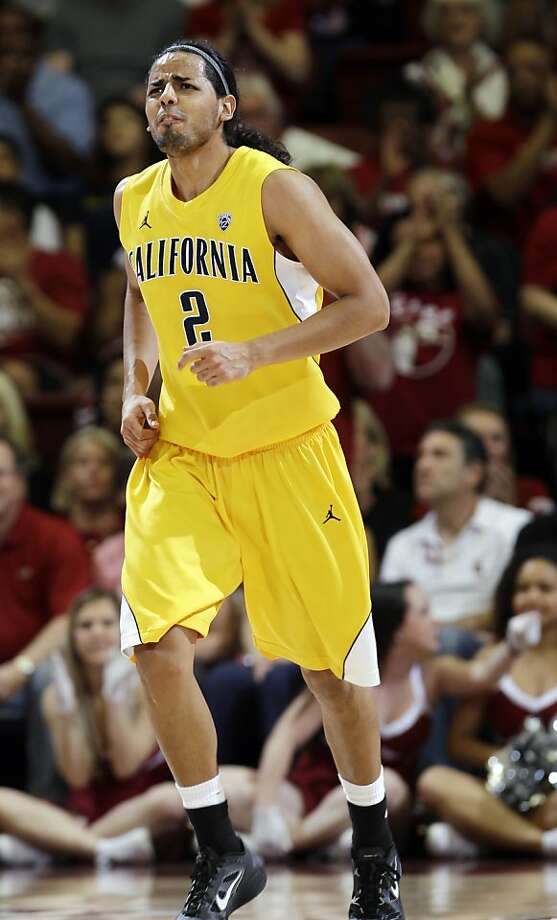 California guard Jorge Gutierrez heads up the court after fouling a Stanford player in the first half of an NCAA college basketball game in Stanford, Calif., Sunday, March 4, 2012. Stanford defeated California 75-70. (AP Photo/Paul Sakuma) Photo: Paul Sakuma, Associated Press
