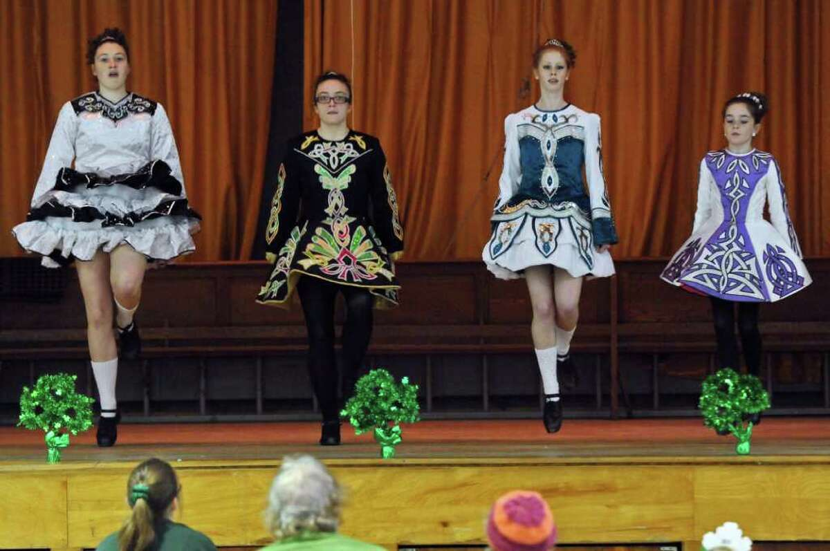 Dancers from Farrell's School of Irish Dance perform during the 8th annual Irish Fest, at St. Francis of Assisi Church on Sunday March 4, 2012 in Albany, N.Y. (Philip Kamrass / Times Union )