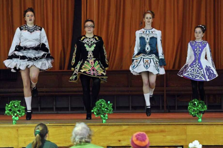 Dancers from Farrell's School of Irish Dance perform during the 8th annual Irish Fest, at St. Francis of Assisi Church on Sunday March 4, 2012 in Albany, N.Y.  (Philip Kamrass / Times Union ) Photo: Philip Kamrass / 00016595A