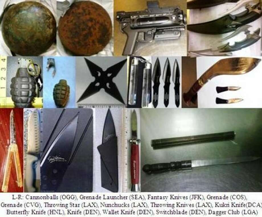 It's amazing what people will try to bring onto an airplane. Chron.com compiled the most unique and weirdest seizures made by the TSA in the gallery above.