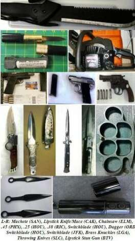 ...and more guns and knives...