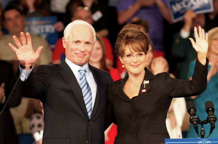 "Ed Harris plays presidential candidate John McCain and Julianne Moore is his running mate, Sarah Palin, in ""Game Change"" Photo: HBO"
