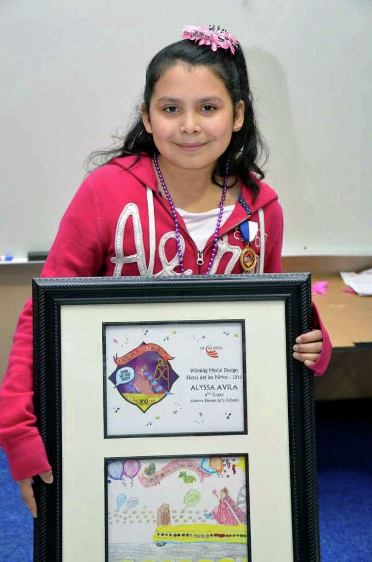 Alyssa Avila, a fourth-grader at Athens Elementary School, is the winner of the 2012 Fiesta de los Ninos Medal design. Courtesy Photo