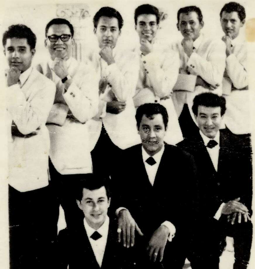 Mid-'60s photo of The Royal Jesters; keyboardist Luvine Elias is fourth from the left on the top row Photo: Courtesy Photo