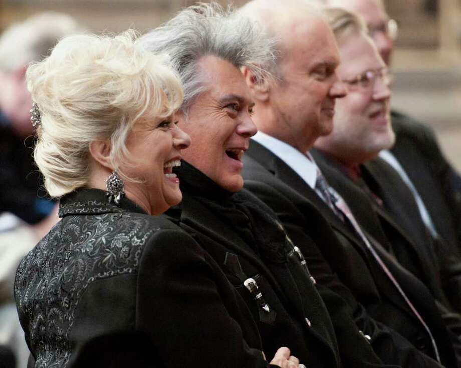"Connie Smith, Marty Stuart and Hargus ""Pig"" Robbins attend the 2012 Country Music Hall of Fame Inductees announcement at the Country Music Hall of Fame and Museum on March 6, 2012 in Nashville, Tenn.  Smith and Robbins are 2012 inductees. Photo: Erika Goldring, Getty Images / 2012 Getty Images"