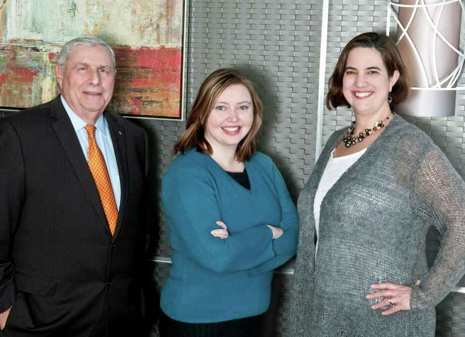 Joseph J. Rucci, Jr. of New Canaan; Kathryn E. Diehm of Redding; and Amy S. Zabetakis of Darien. Photo: Contributed Photo / Darien News