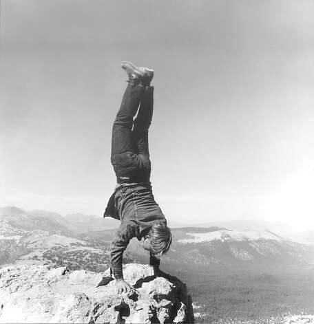 """8 Natural Handstands"" (1969/2009) by Robert Kinmont (1 of 9 black and white gelatin silver prints: performance photographs) Photo: Bill Orcutt"