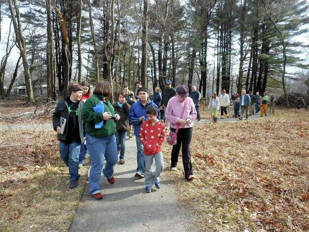 ... families along a trail to find a sufficiently mature sugar maple tree to ...