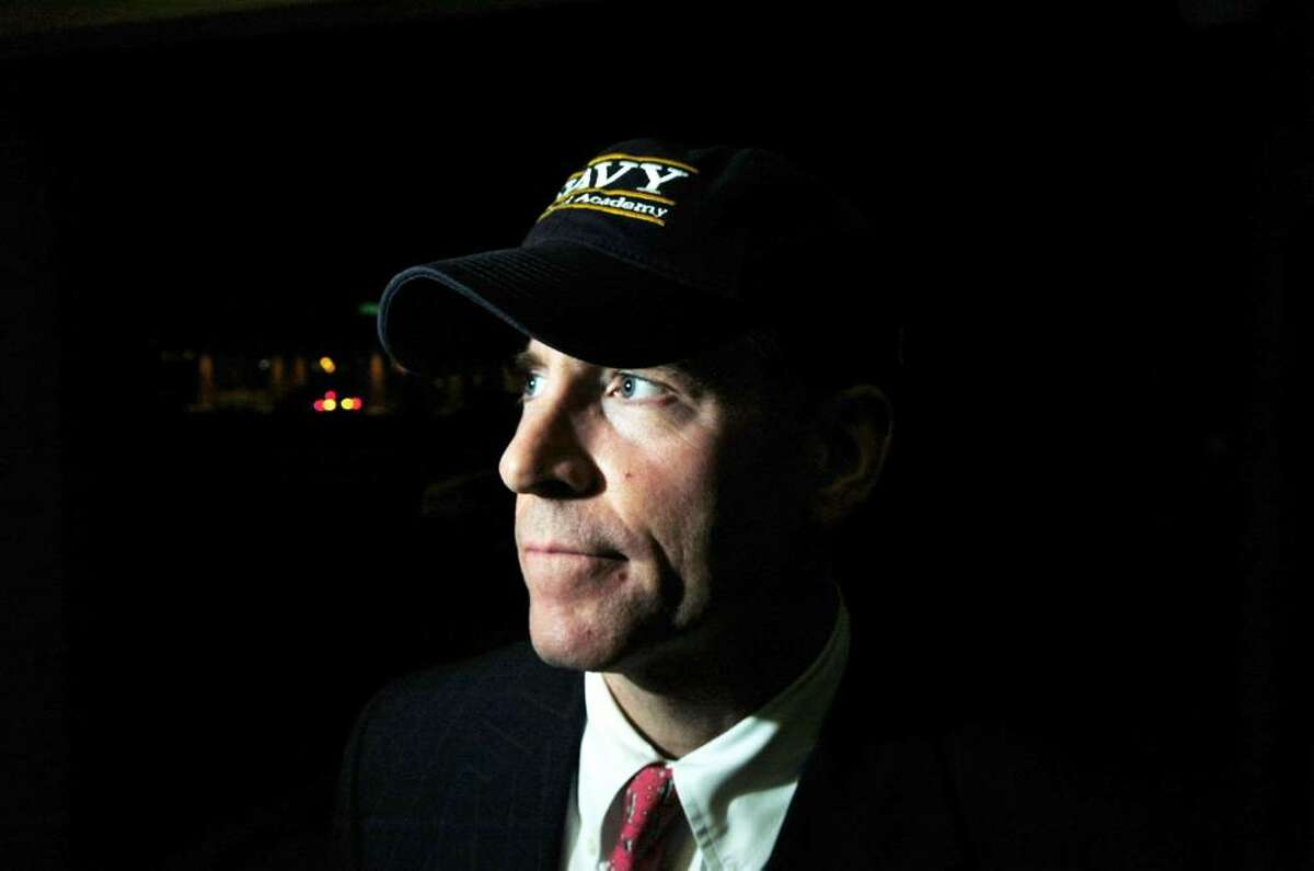 After founding it 18 years ago, Jim Carrier is stepping down from organizing the annual Salute to Veterans. He is photographed in Cos Cob, Tuesday evening, Nov. 10, 2009.