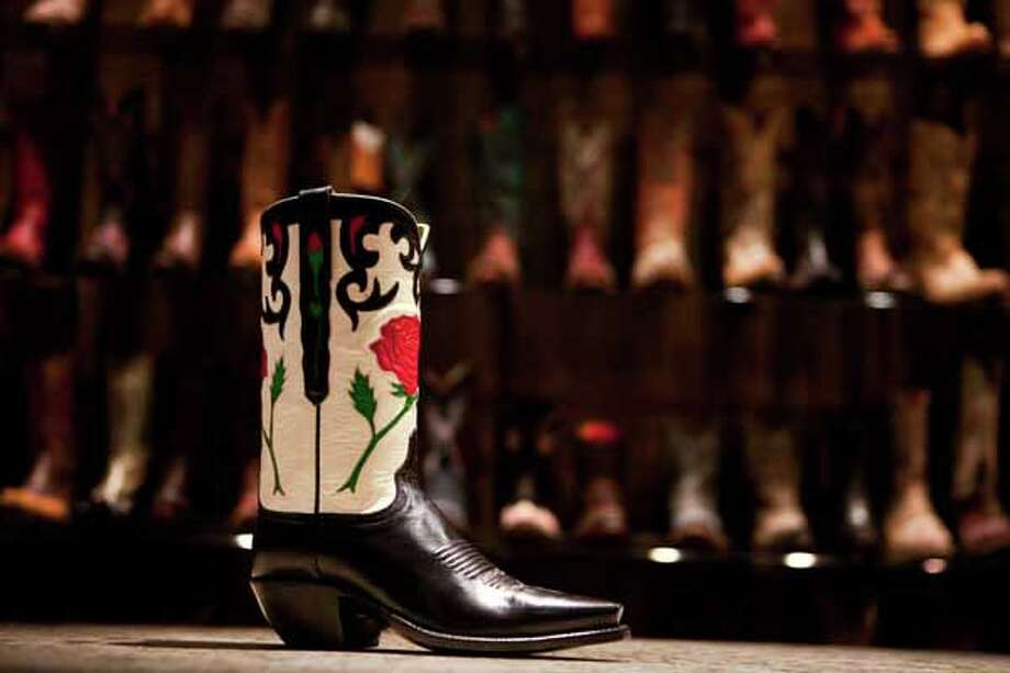 Lucchese has a private show room showing of some of heir best designs on Feb. 9, 2011, in their factory in El Paso. Lucchese CEO Paul LaVoie says that the factory produces 7,500 different styles of boots. Photo: Nick De La Torre, Houston Chronicle / Houston Chronicle