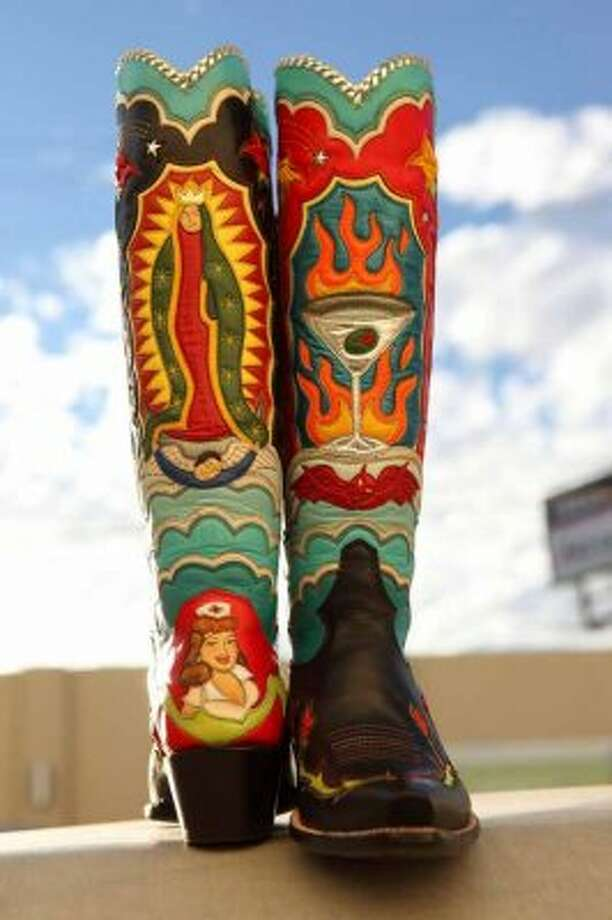 A custom pair of Western boots by RocketBuster boots of El Paso.  (RocketBuster)