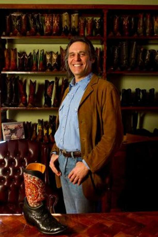 Pedro Muñoz, owner of Stallion Boots and Leather Goods, says he has high standards when it comes to what goes into making boots and the craftsmanship in a finished product. (Nick de la Torre / Houston Chronicle)
